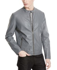 Kenneth Cole Reaction Men's Perforated Faux Leather Moto Jacket