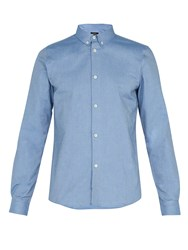 A.P.C. Button Down Collar Oxford Shirt Blue