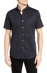 7 Diamonds Men's Show Out Woven Shirt Navy