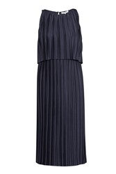 Great Plains Narcissus Jersey Pleated Dress Navy