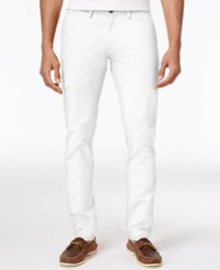 Ben Sherman Men's Slim Fit Stretch Chinos Only At Macy's White