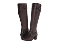 Frye Malorie Button Tall Dark Grey Smooth Vintage Leather Cowboy Boots Brown