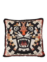 Missoni Tiger Horoscope Cotton Pillow Multicolor