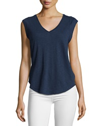 Candc California C And C California V Neck Muscle Tee Navy