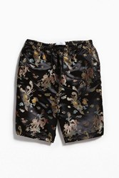 Urban Outfitters Uo Dragon Brocade Boxing Short Black