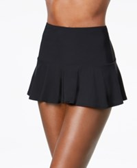 Coco Reef High Waist Allover Slimming Swim Skirt Swimsuit Black