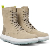 Under Armour Sportswear Rlt Summer Leather Trimmed Suede Boots Beige