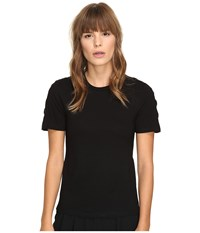 Neil Barrett Laced Regular Interlock Jersey T Shirt Black Women's T Shirt