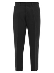 Ami Alexandre Mattiussi Cropped Virgin Wool Twill Trousers Black