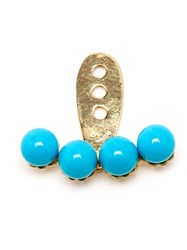 Yvonne Leon 18Kt Yellow Gold And Turquoise Lobe Earring Blue
