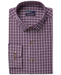 Bar Iii Carnaby Collection Slim Fit Plum Cross Gingham Dress Shirt Only At Macy's