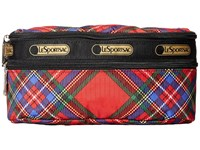 Le Sport Sac Double Zip Belt Bag Cozy Plaid Red Wallet
