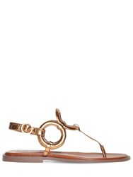 See By Chloe 10Mm Metallic Leather Thong Flats Bronze