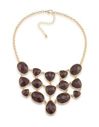 1St And Gorgeous Multi Shape Bib Necklace Gold