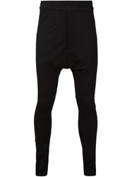 Julius Drop Crotch Slim Track Pants Black