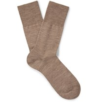 Falke Airport Melange Virgin Wool Blend Socks Neutral