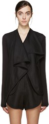 Denis Gagnon Ssense Exclusive Black Linen Jacket