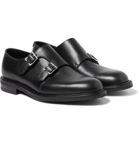 John Lobb Morval Full Grain Leather Monk Strap Shoes