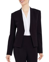 Ellen Tracy Collarless Open Blazer Black