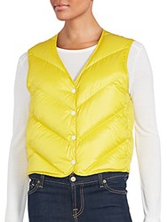 Rag And Bone Solid Quilted Vest Sulphur