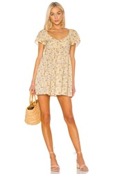 Auguste X Revolve Olsen Belle Mini Dress Yellow
