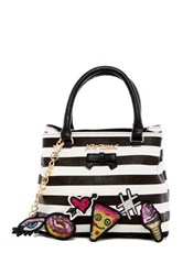 Betsey Johnson Faux Leather Sticky Situation Satchel Multi