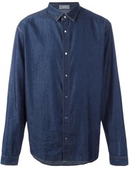 Christian Dior Homme Denim Button Down Shirt Blue