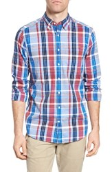 Gant Men's Madras Plaid Fitted Sport Shirt