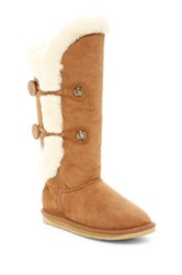Australia Luxe Collective Nordic Angel Tall Genuine Shearling Boot Gray