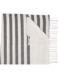 Osklen Striped Scarf White