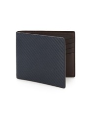 Dunhill Chassis Leather Billfold Navy Brown