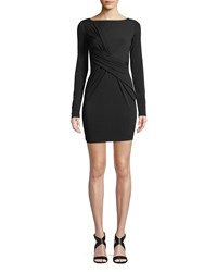Bailey 44 Clandestine Draped Long Sleeve Dress Black