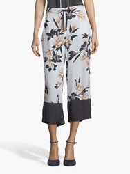 Betty And Co. Floral Print Culottes White Multi