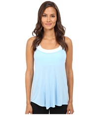 Pink Lotus Day Dreamin Motivated Strappy Tank Top With Keyhole Back Detail Bright Blue Women's Sleeveless