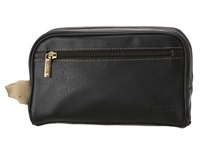 Kenneth Cole Reaction Vinyl Single Gusset Top Zip Travel Kit Black Bags