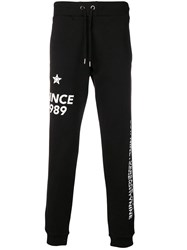 Versace Jeans Printed Sweatpants Black