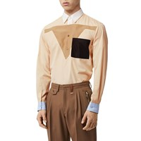 Burberry Cotton Poplin Kangaroo Shirt Buttermilk