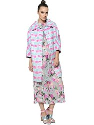 Antonio Marras Lurex Blended Cotton Brocade Cocoon Coat