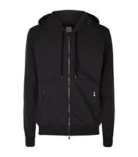 Derek Rose Devon Loopback Hoodie Male Dark Grey