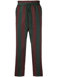 Vivienne Westwood Striped Cropped Trousers Green