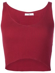 321 Cropped Tank Red