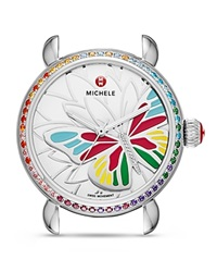 Michele Limited Edition Garden Party Topaz And Diamond Butterfly Watch Head 36Mm