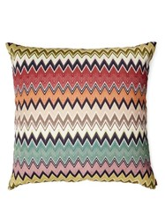 Missoni Home Togo Cotton And Linen Blend Cushion Green Red