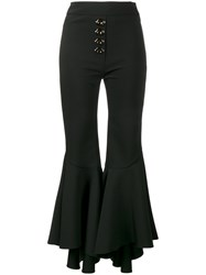 Ellery Flared Cropped Trousers Women Cotton Polyester Spandex Elastane Wool 8 Black