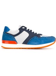 Eleventy Panelled Sneakers Blue