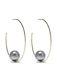 Mizuki 14Kt Gold Floating Pearl Earrings 60