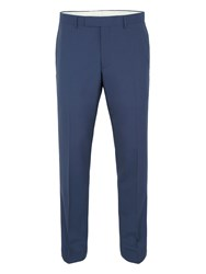 Paul Costelloe Slim Fit Blue Plain Mohair Suit Trousers Blue