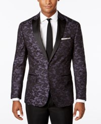 Ryan Seacrest Distinction Men's Slim Fit Black Navy Camouflage Dinner Jacket Only At Macy's Black Navy Camouflage