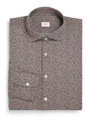 Slowear Regular Fit Floral Cotton Dress Shirt Grey Multi