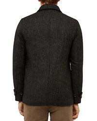 Ted Baker Robson Wool Blend Coat Charcoal